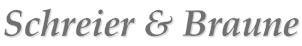 Logo Schreier & Braune grau