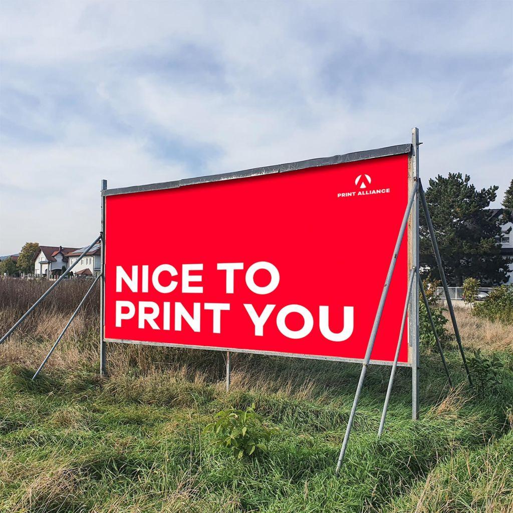 Plakate für Mobilständer drucken - Bogenplakat